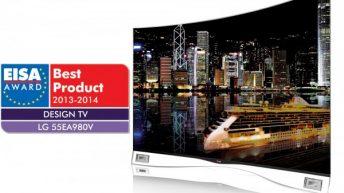 Футуристичният OLED телевизор на LG с награда за най-добър дизайн